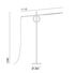 Tangent Medium LED Small reading lamp - / Adjustable - H 141 cm by Pallucco