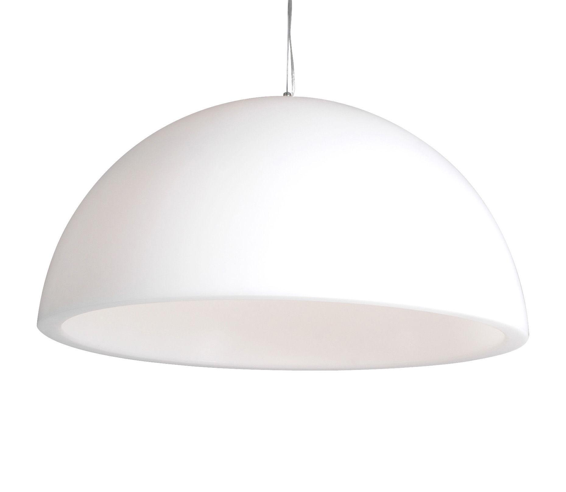Luminaire - Suspensions - Suspension Cupole Ø 80 cm / Version mate - Slide - Blanc - Polyéthylène