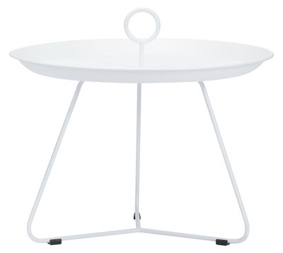 Table basse Eyelet Medium Ø 60 x H 43,5 cm Houe blanc en métal
