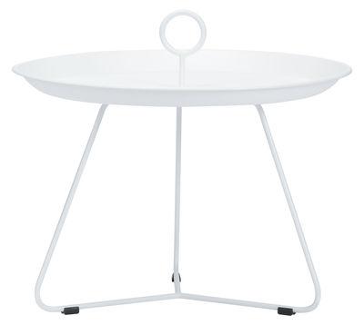 Table basse Eyelet Medium / Ø 60 x H 43,5 cm - Houe blanc en métal