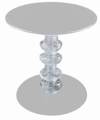 Table d'appoint Calice - Glas Italia blanc en verre