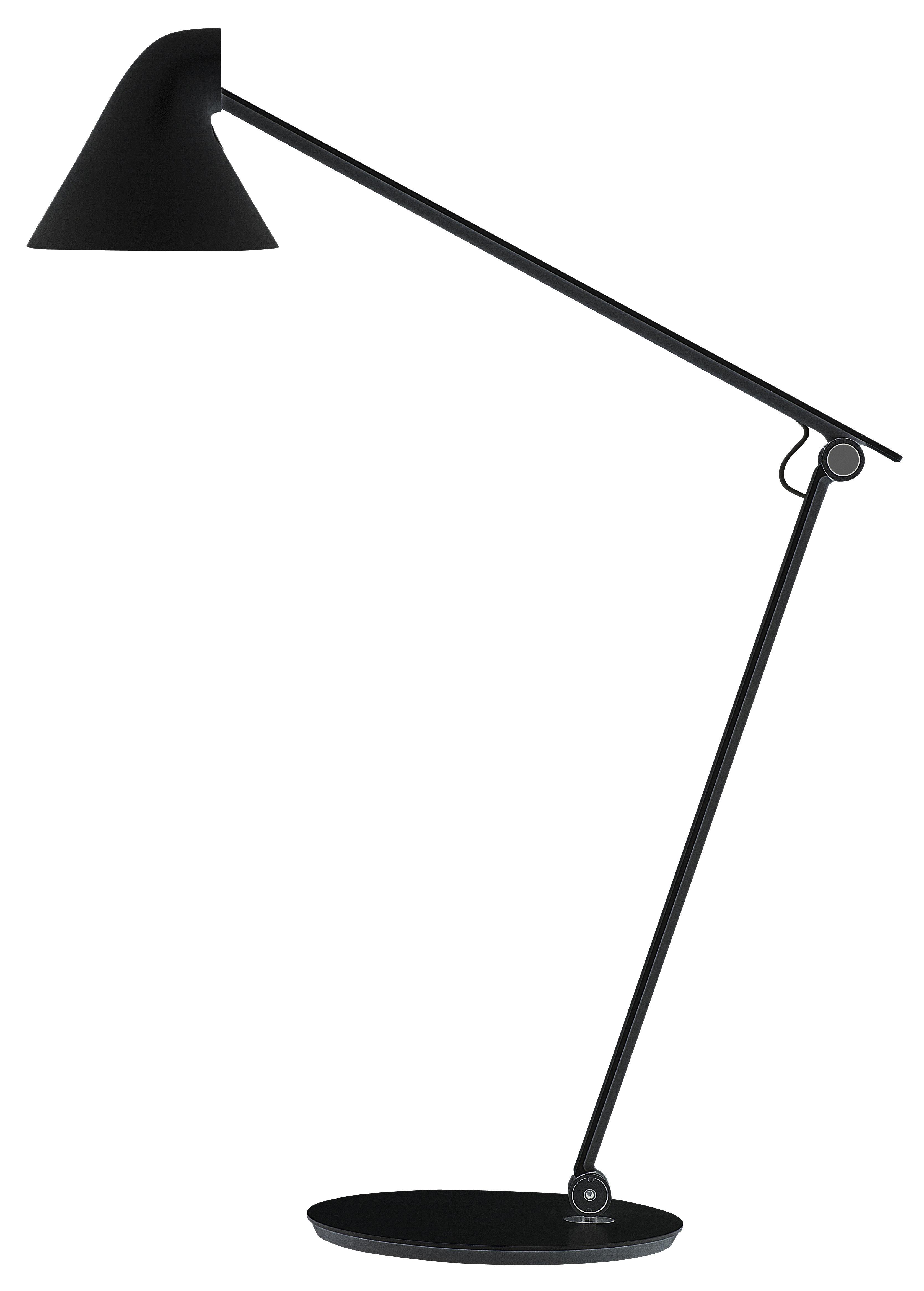 Lighting - Table Lamps - NJP Table lamp - LED by Louis Poulsen - Black - Very warm light 2700K - Aluminium, Steel