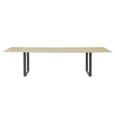 Mobilier - Bureaux - Table rectangulaire 70-70 XXL / 295 x 108 cm - Chêne massif - Muuto - Chêne massif / Pied noir - Chêne massif, Fonte d'aluminium vernie
