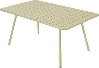Table Luxembourg / 6 à 8 personnes - 165 x 100 cm - Fermob tilleul en métal