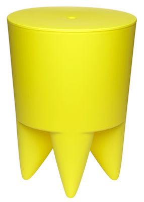 Mobilier - Tabourets bas - Tabouret New Bubu 1er / Coffre - Plastique - XO - Jaune vif - Polypropylène