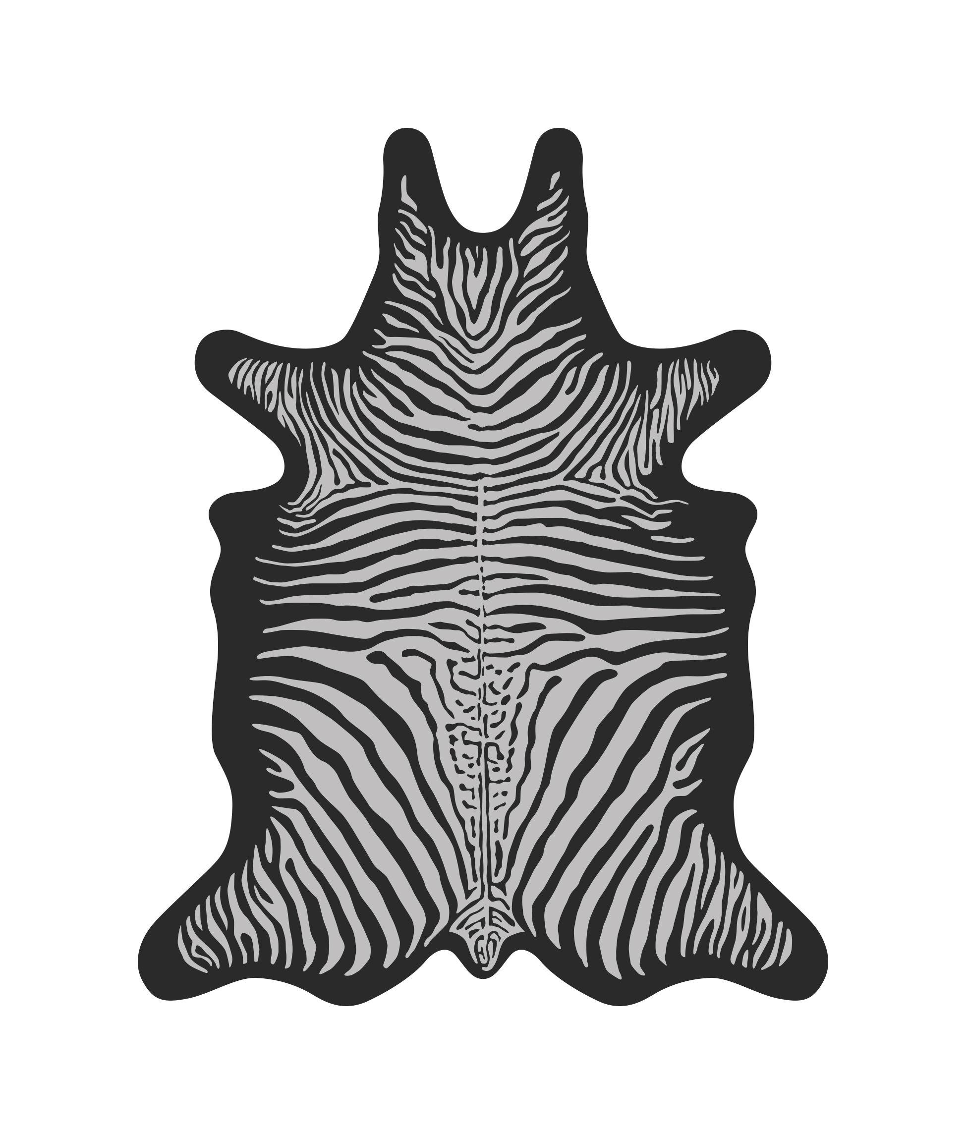 Outdoor - Déco et accessoires - Tapis Zèbre / 126 x 159 cm - Vinyle - PÔDEVACHE - Zèbre / Noir & blanc - Vinyle