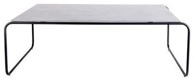Arredamento - Tavolini  - Tavolino basso Yoso Medium / 120 x 69 x H 39 cm - Cemento - XL Boom - 120 x 69 cm / Cemento grigio -  Fibre-ciment, Acier laqué époxy