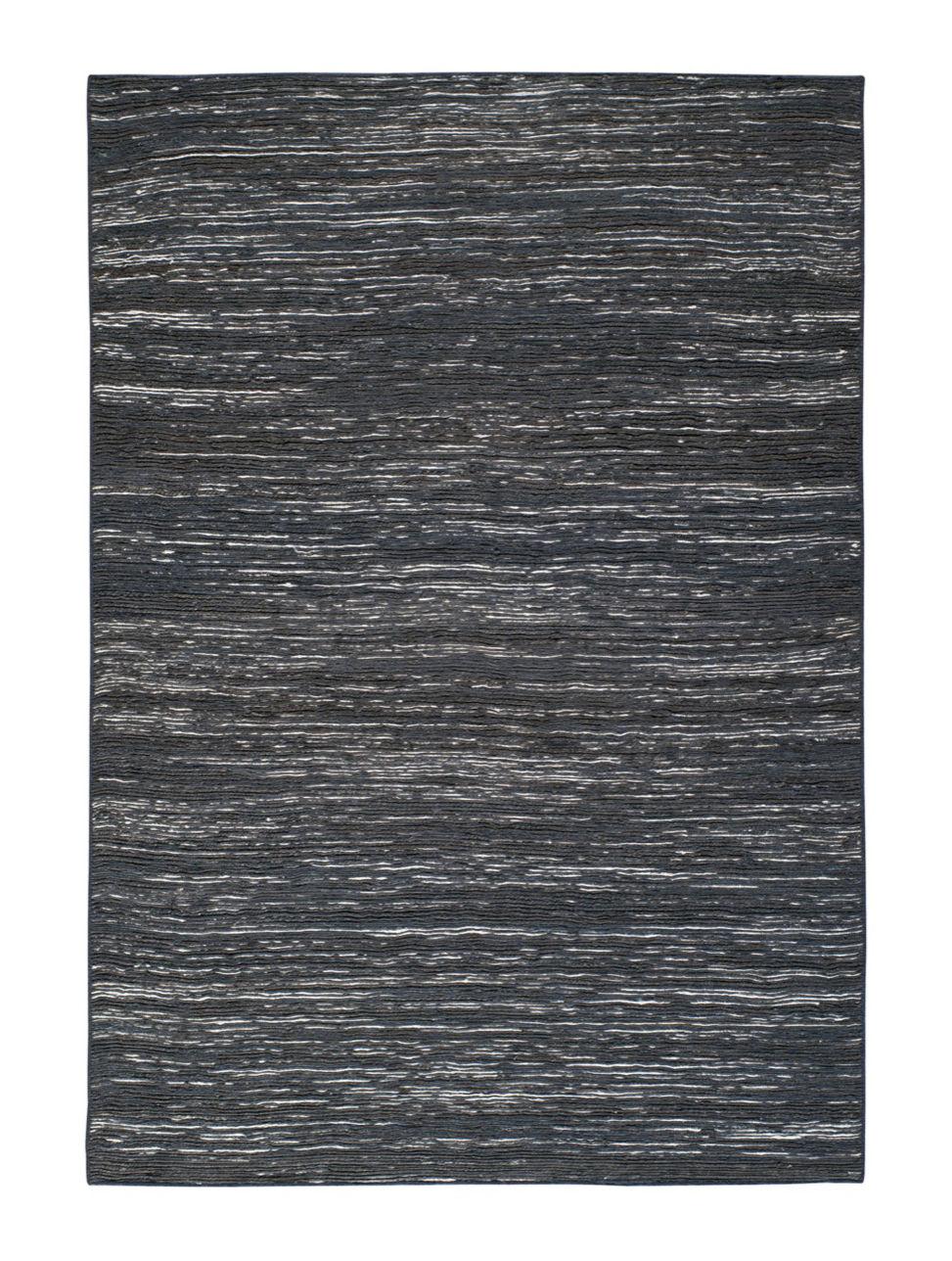 Dekoration - Teppiche - Vulcano Teppich / 170 x 240 cm - Toulemonde Bochart - Schwarz - Baumwolle, Jute, Soie végétale