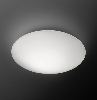 Lighting - Wall Lights - Puck Wall light by Vibia - Ø 16 cm / White - Blown glass