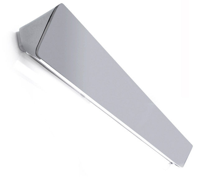 Leuchten - Wandleuchten - Lane Wandleuchte L 155 cm - Luceplan - Mattes Aluminium - Aluminium