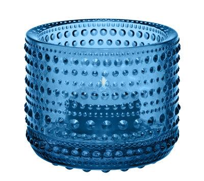 Dekoration - Kerzen, Kerzenleuchter und Windlichter - Kastehelmi Windlicht / H 6,4 cm - Iittala - Turkis - Glas