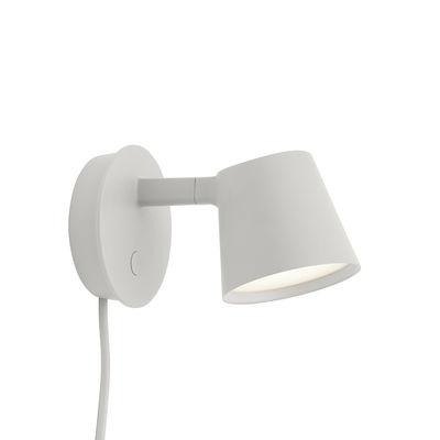 Applique avec prise Tip LED / Orientable - Variateur - Muuto gris clair en métal