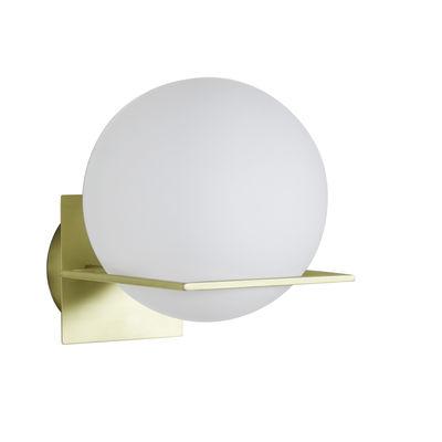 Illuminazione - Lampade da parete - Applique GIn - / Vetro & metallo di ENOstudio - Bianco & oro - Acciaio, vetro soffiato