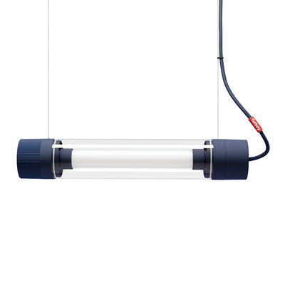 Luminaire - Appliques - Applique Tjoep Small / Applique LED - L 50 cm - Orientable - Fatboy - Bleu - Caoutchouc, Polycarbonate