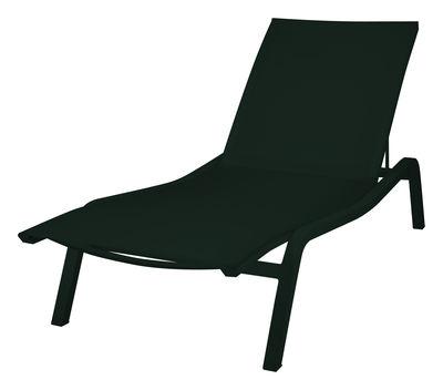 Bain de soleil Alizé XS / larg. 72 cm - 3 positions - Fermob noir en métal/tissu