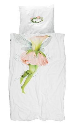 Fée Bettwäsche-Set für 1 Person / 140 x 200 cm - Snurk - Weiß,Rosa,Grün