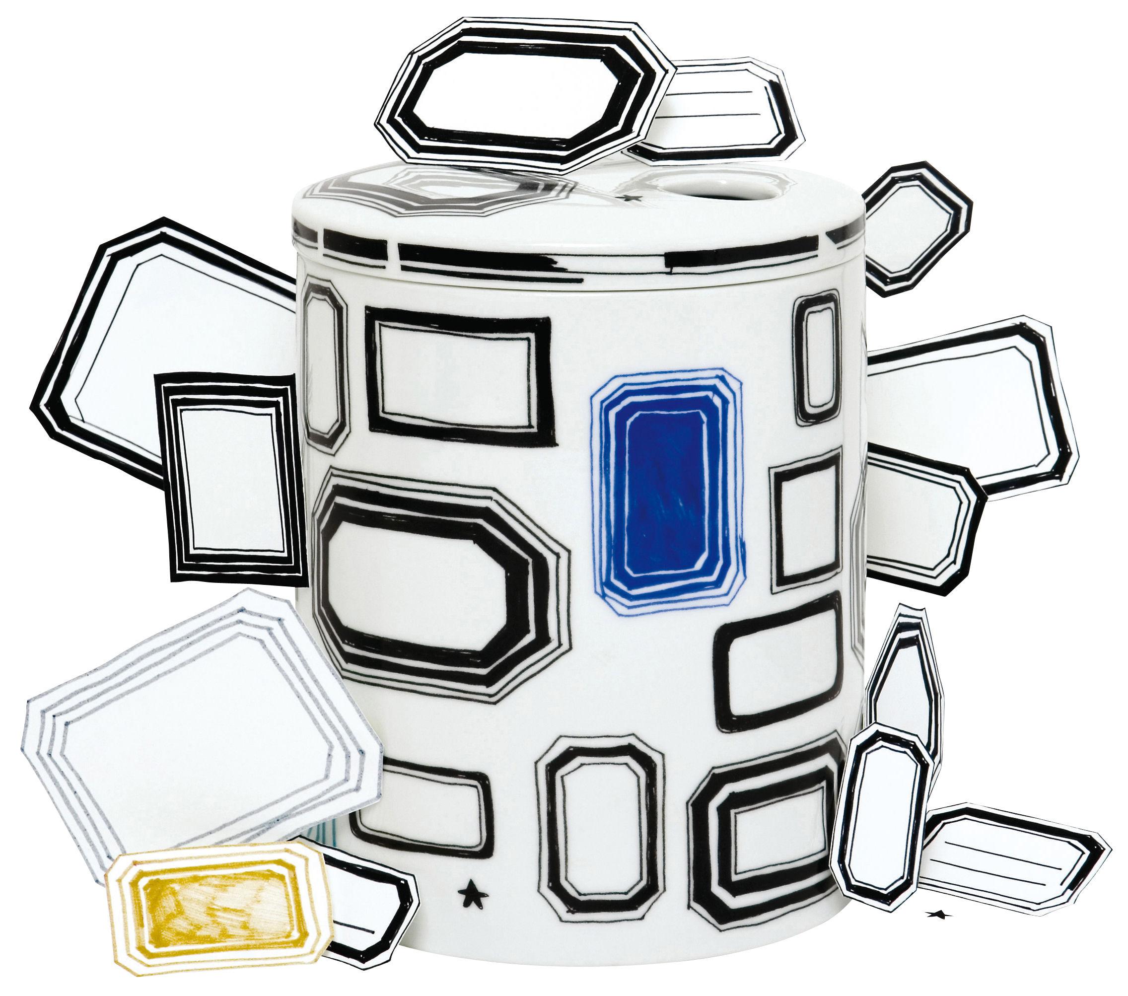 Déco - Vases - Boîte Surface 01 - Coll print / Soliflore - Domestic - Coll print - Porcelaine