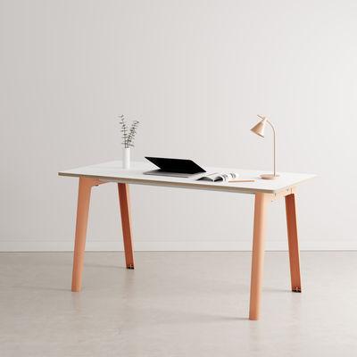 Bureau New Modern / 150 x 70 cm - Stratifié - TIPTOE rose en métal/bois