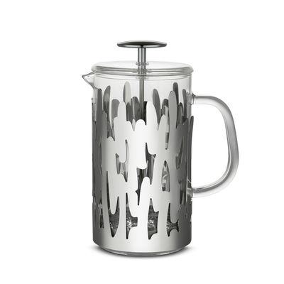 Tavola - Caffè - Caffettiera a stantuffo Barkoffee - / 8 tazze - per caffè, tè, tisane di Alessi - Acciaio - Acciaio inossidabile, Vetro