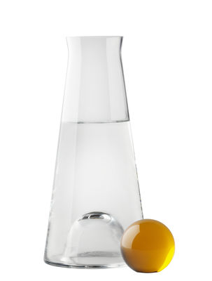 Tableware - Water Carafes & Wine Decanters - Fia Carafe - 1 L by Design House Stockholm - Clear / Amber - Cristal, Glass
