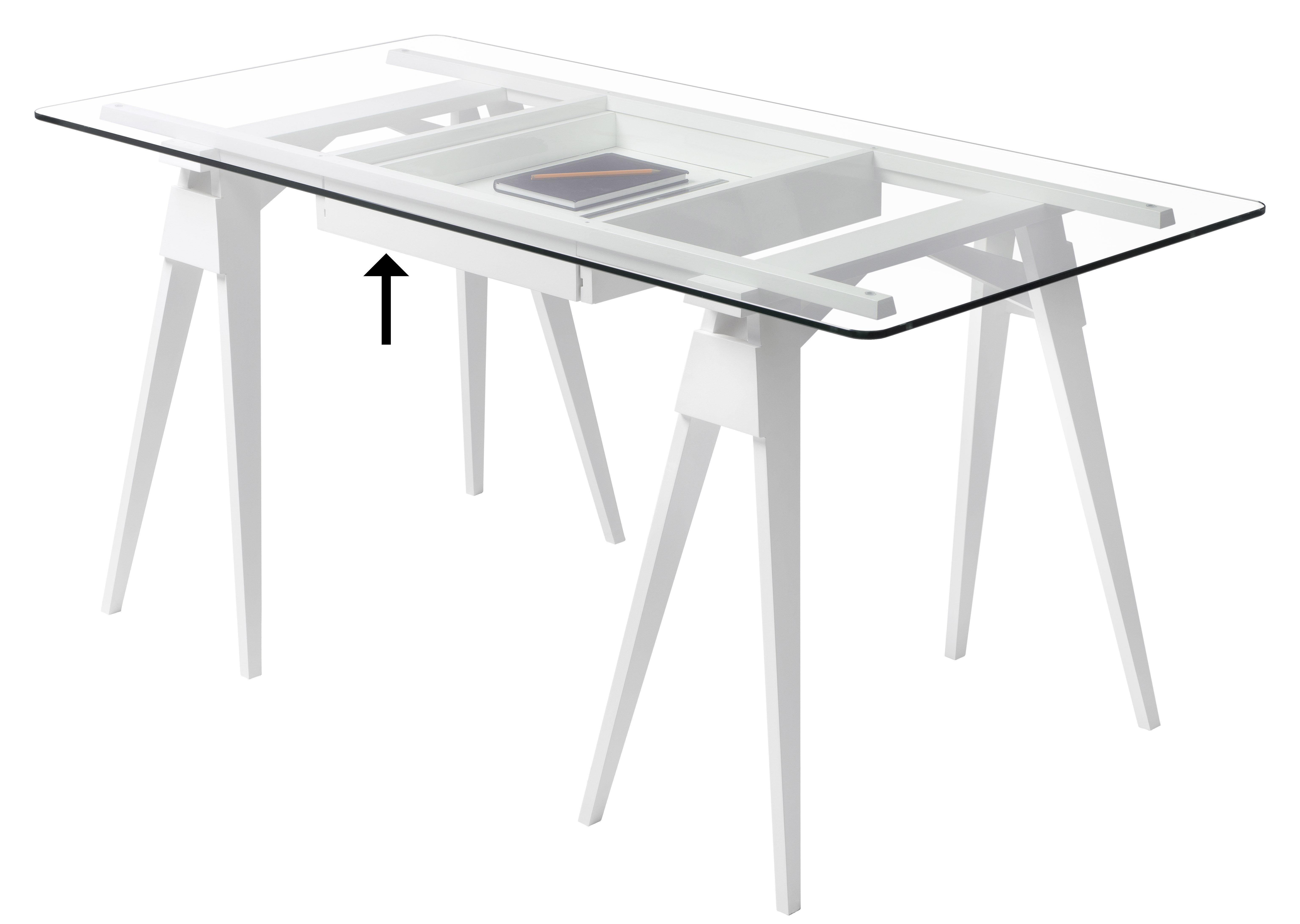 Arredamento - Mobili da ufficio - Cassetto / Per scrivania Arco - Design House Stockholm - Cassetto / Bianco - Legno massiccio laccato