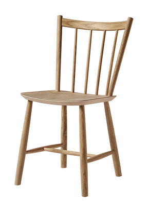 Furniture - Chairs - J41 Chair - / Wood by Hay - Oiled oak - Oiled oak