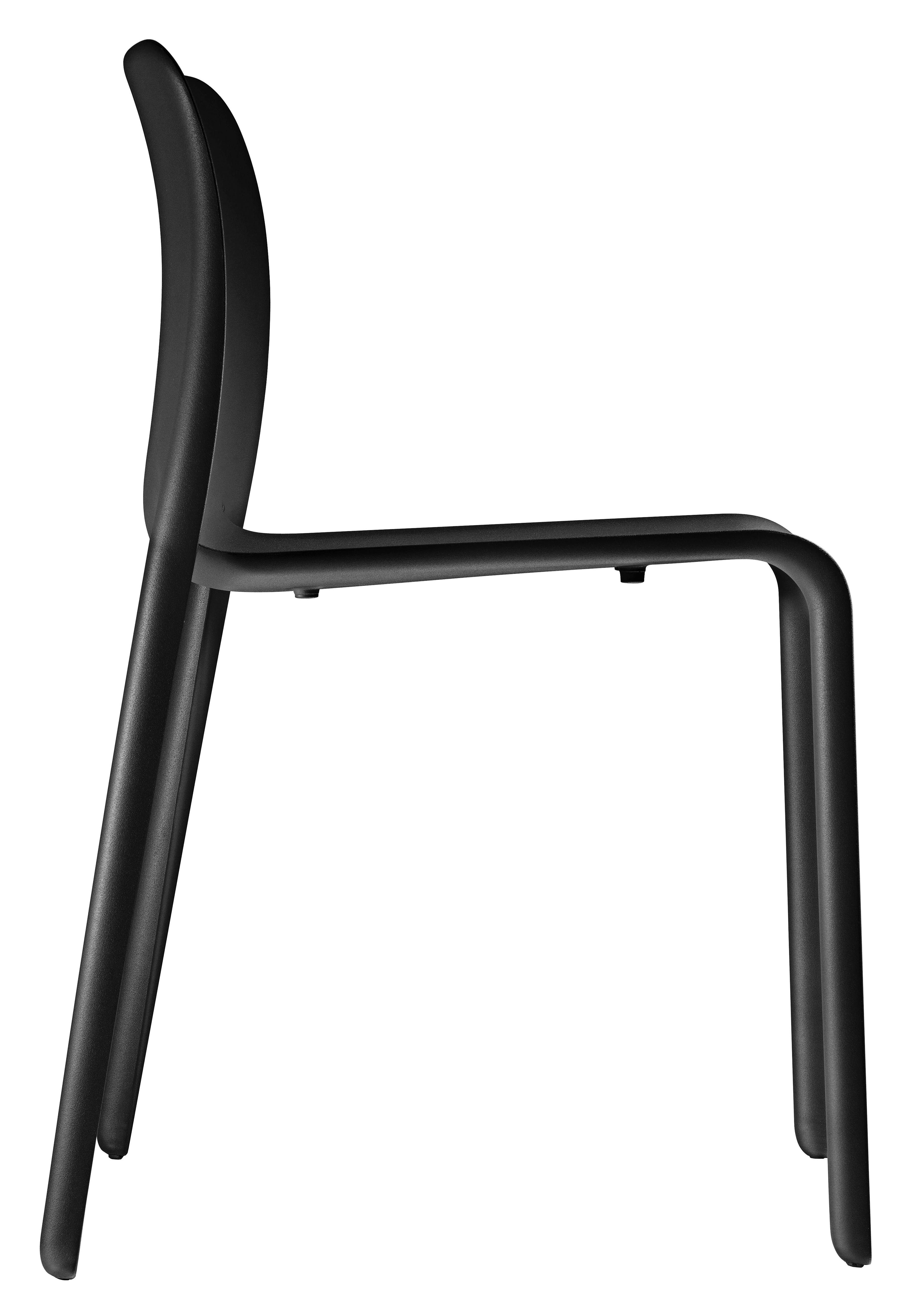 Mobilier - Chaises, fauteuils de salle à manger - Chaise empilable First Chair / Plastique - Magis - Noir - Polypropylène