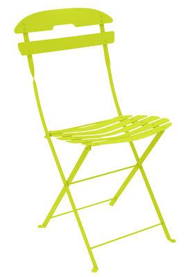 Chaise pliante La Môme / Acier - Fermob vert en métal