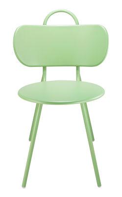 Mobilier - Chaises, fauteuils de salle à manger - Chaise Swim / Métal - Bibelo - Vert Ciel Vénitien - Acier laqué époxy