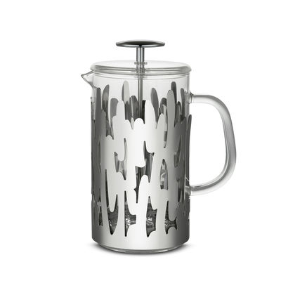 Tableware - Tea & Coffee Accessories - Barkoffee Coffee maker - / 8 cups - For coffee, tea and herbal teas by Alessi - Steel - Glass, Stainless steel