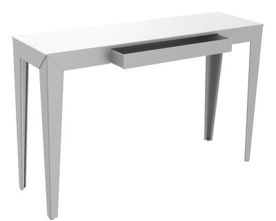 Furniture - Console Tables - Zef Console by Matière Grise - Raw shiny varnished - Steel