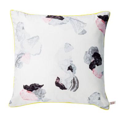 Déco - Coussins - Coussin Minerals / 50 x 50 cm - Petite Friture - Minerals / Noir & rose - Coton, Polyester, Satin de coton