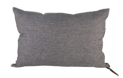 Coussin Vice Versa / 65 x 65 cm - Lin - Maison de Vacances gris ardoise en tissu