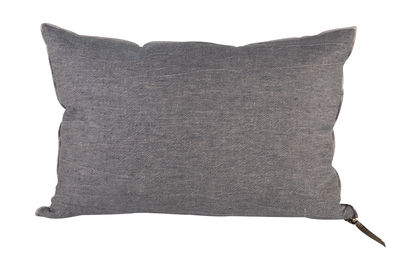 Decoration - Cushions & Poufs - Vice Versa Cushion - 65 x 65 cm - Linen by Maison de Vacances - Slate - Duck feathers, Flax