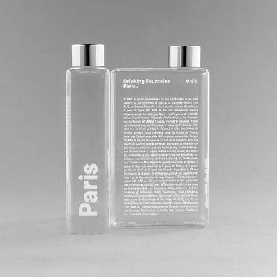 Arts de la table - Carafes et décanteurs - Gourde Phil - Paris / Bouteille nomade plastique écologique - 500 ml - Palomar - Paris - Aluminium, Plastique écologique