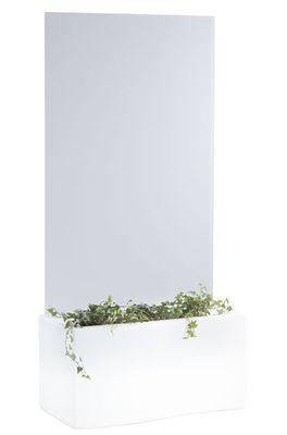 Jardinière Privé / L 86 cm - Slide blanc en matière plastique