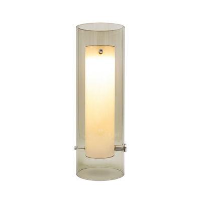 Illuminazione - Lampade da tavolo - Lampada da tavolo Lasospesa LED - / Vetro - Ø 10 x H 30 cm di Fontana Arte - Grigio fumo - Vetro borosilicato