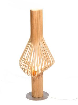 Luminaire - Lampadaires - Lampadaire Diva H 120 cm - Northern  - Chêne - Contreplaqué de chêne, Verre soufflé bouche