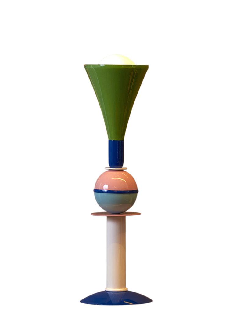 Luminaire - Lampes de table - Lampe de table Carmen / Métal / H 50 cm - Slide - H 50 cm / Vert, bleu, rose - Aluminium laqué