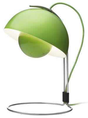 Luminaire - Lampes de table - Lampe de table FlowerPot VP4 / H 36 cm - By Verner Panton, 1969 - &tradition - Vert - Aluminium laqué