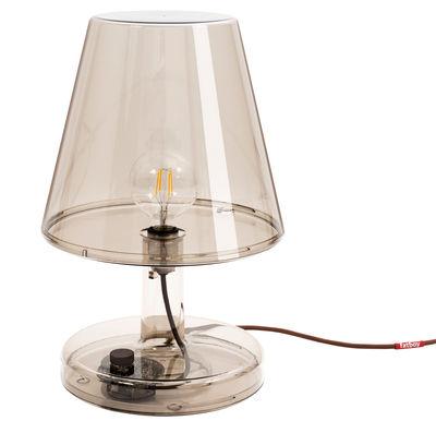 Lampe de table Trans-parents / Ø 32 x H 50 cm - Fatboy marron en matière plastique