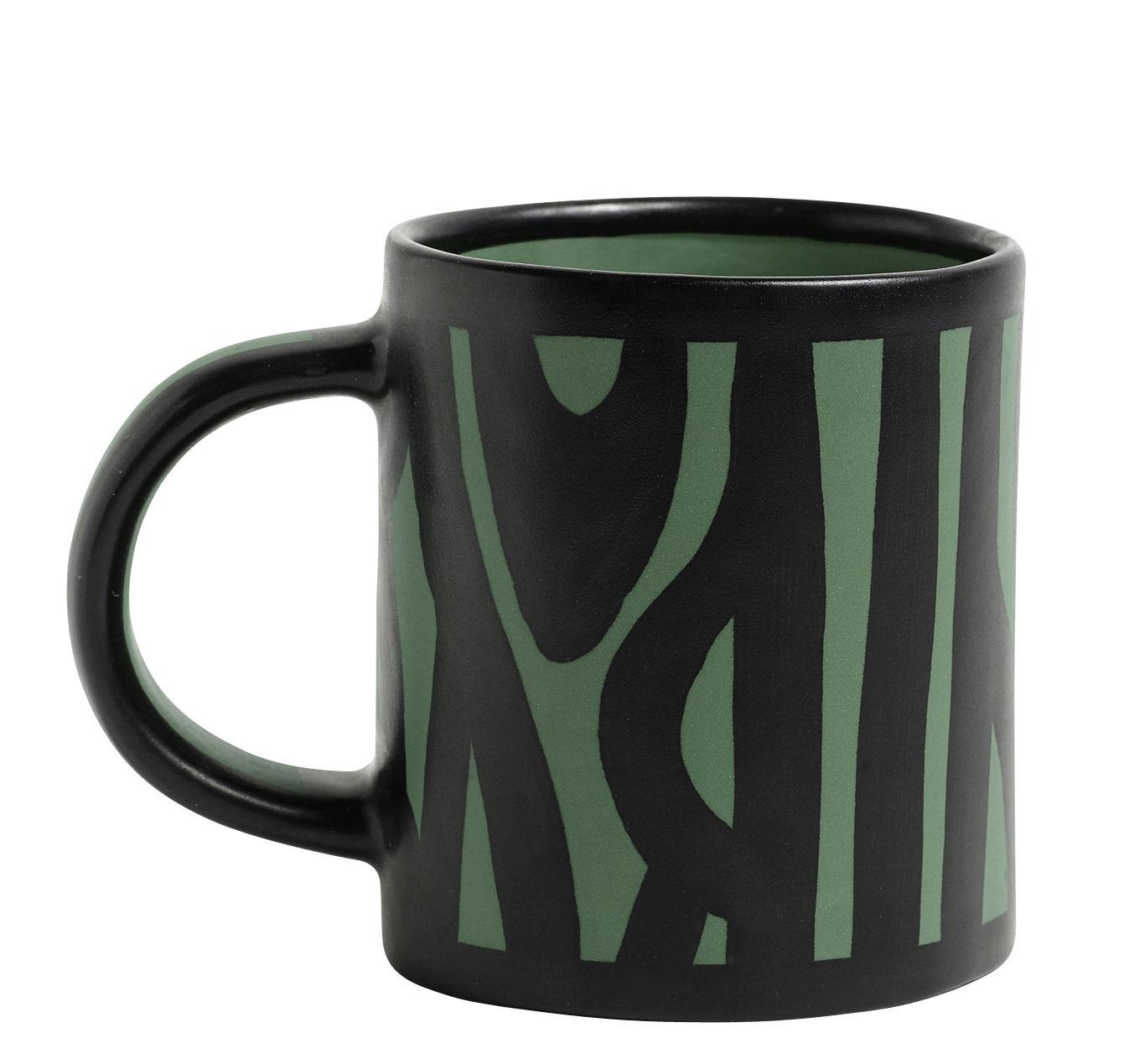 Arts de la table - Tasses et mugs - Mug Wood / Peint à la main - Hay - Vert foncé - Grès émaillé