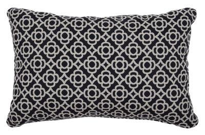 Decoration - Cushions & Poufs - Lorette Outdoor cushion - / 68 x 44 cm by Fermob - Licorice - Acrylic