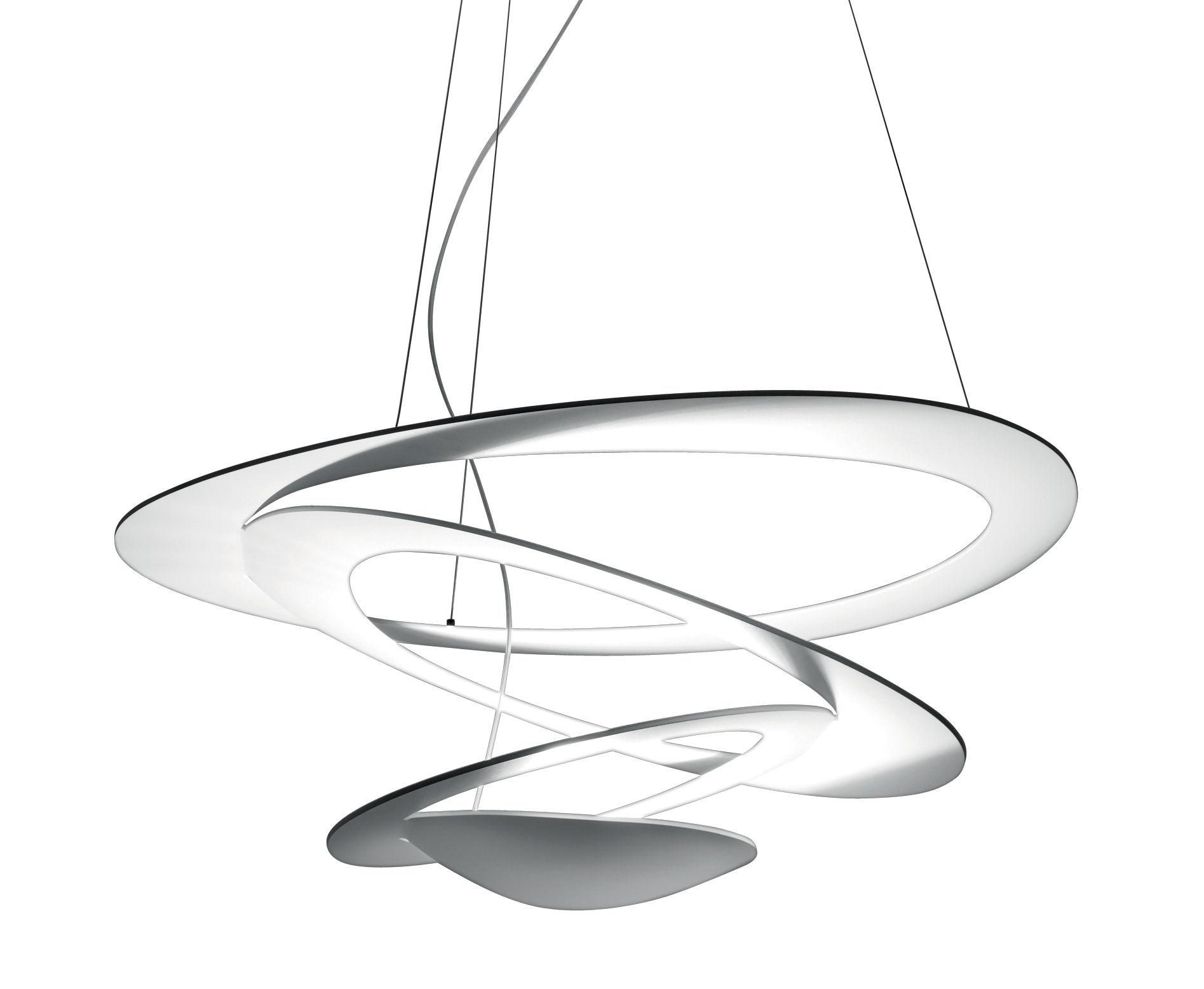 Lighting - Pendant Lighting - Pirce Mini LED Pendant - Ø 69 cm by Artemide - White - Varnished aluminium