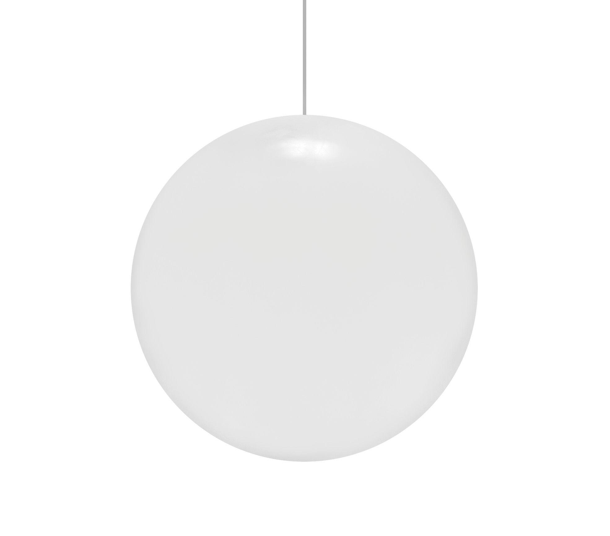 Leuchten - Pendelleuchten - Globo Pendelleuchte - Slide - Weiß - Ø 30 cm - Polyäthylen
