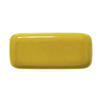 Plat à cake Tourron / 33 x 15 cm - Grès fait main - Jars Céramistes jaune en céramique