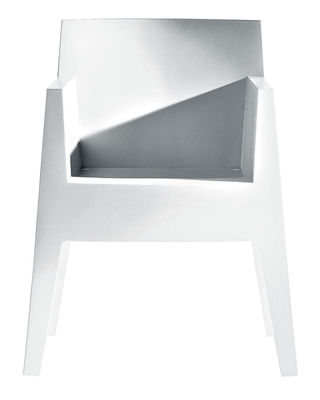 Arredamento - Sedie  - Poltrona impilabile Toy di Driade - Bianco - Polipropilene
