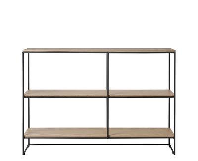 Möbel - Regale und Bücherregale - Planner Small Regal / MC500 - L 121 x H 85 cm - Fritz Hansen - Eiche / Schwarz - Beschichteter Stahl, massive Eiche