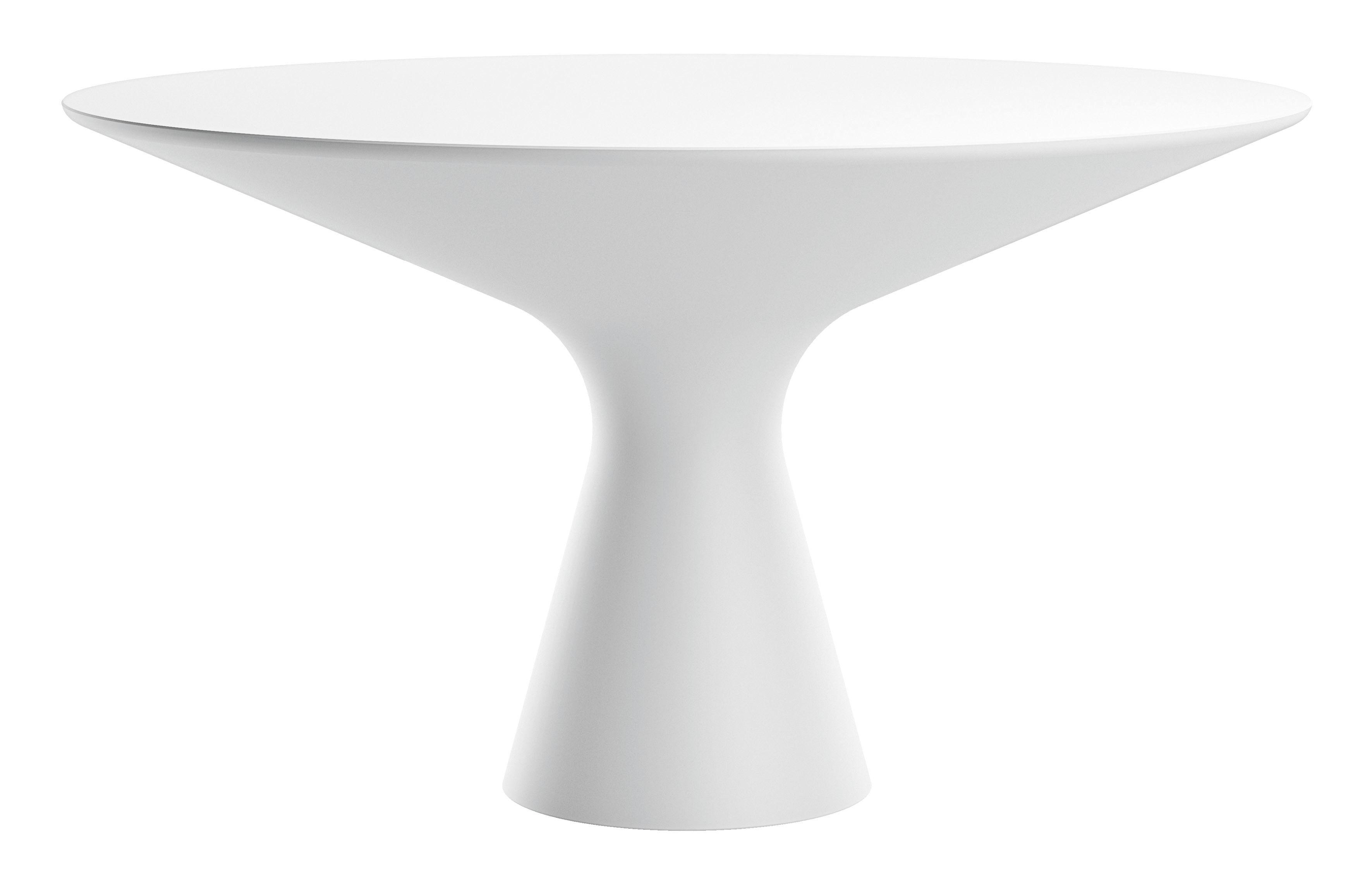 Möbel - Tische - Blanco Runder Tisch / Ø 130 cm - Zanotta - Weiß - Cristalplant