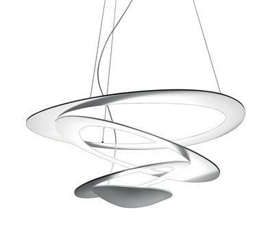 Illuminazione - Lampadari - Sospensione Pirce Mini LED - / Ø 67 cm di Artemide - Bianco - alluminio verniciato